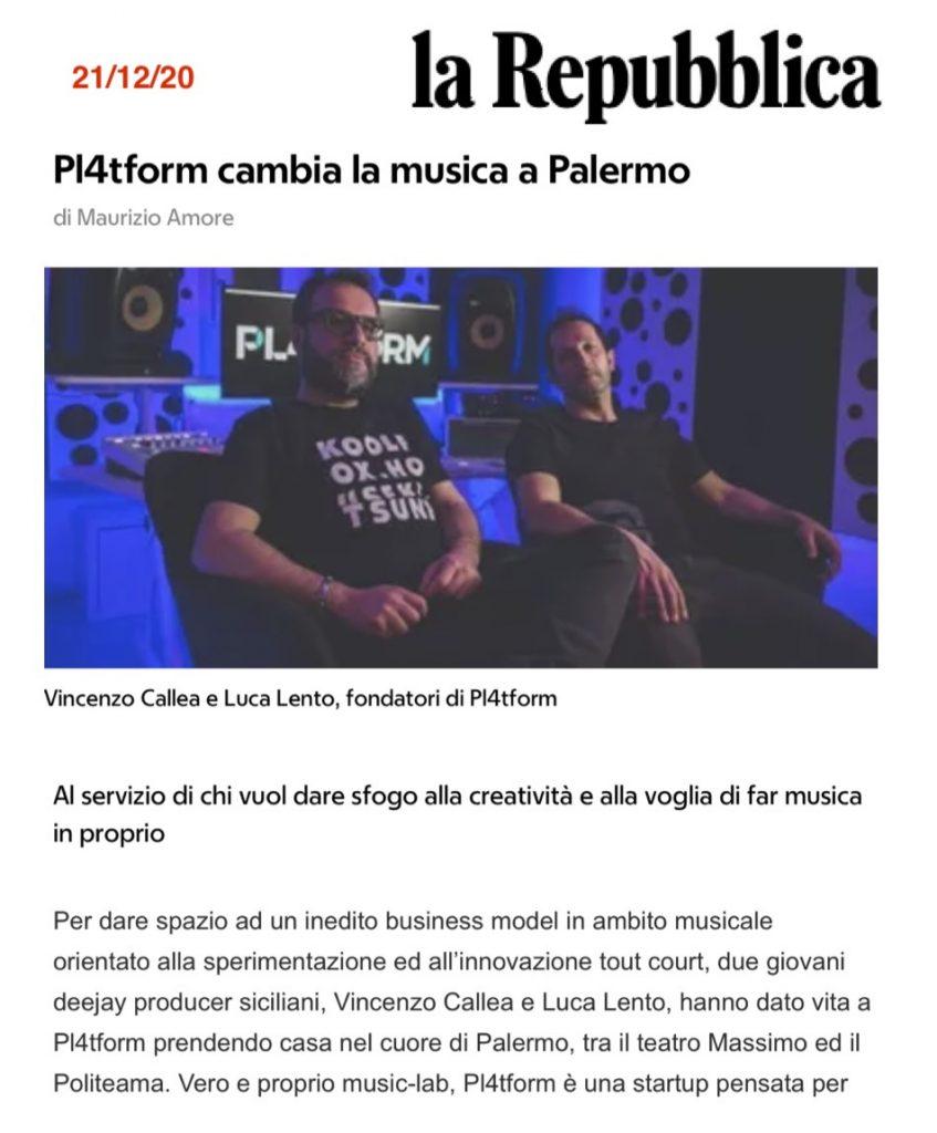 Pl4tform - Palermo ufficio stampa ltc
